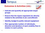 outcomes activities ctd