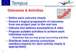 outcomes activities