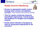 quality control monitoring