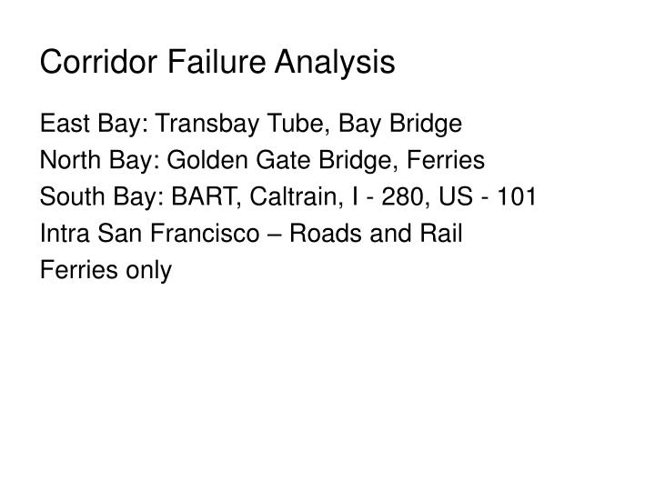 Corridor Failure Analysis