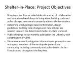 shelter in place project objectives