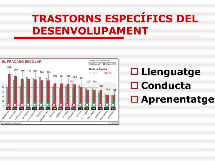 TRASTORNS ESPECÍFICS DEL DESENVOLUPAMENT