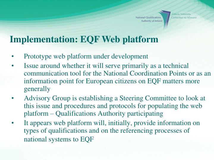Implementation: EQF Web platform