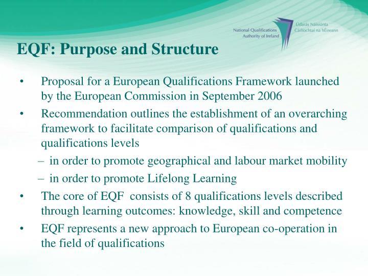 EQF: Purpose and Structure