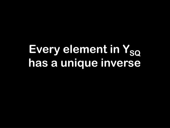 Every element in Y