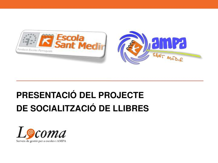 presentaci del projecte de socialitzaci de llibres