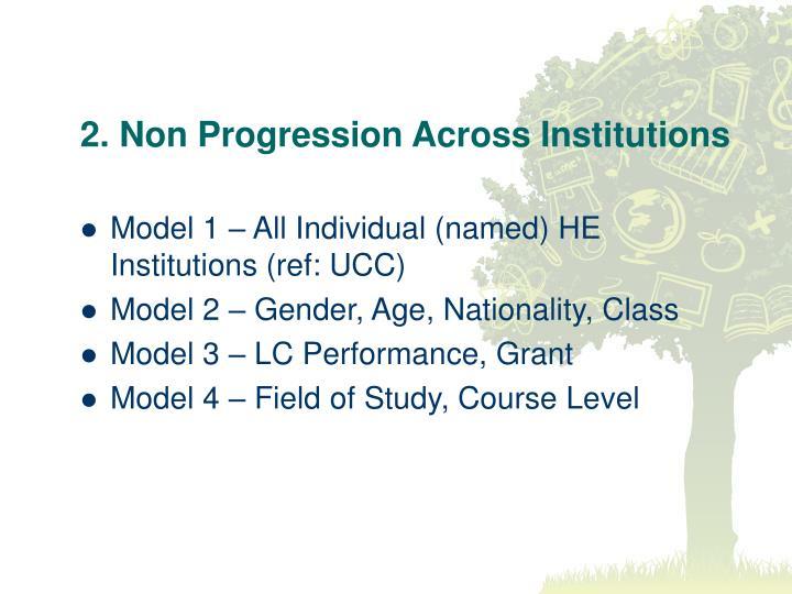 2. Non Progression Across Institutions
