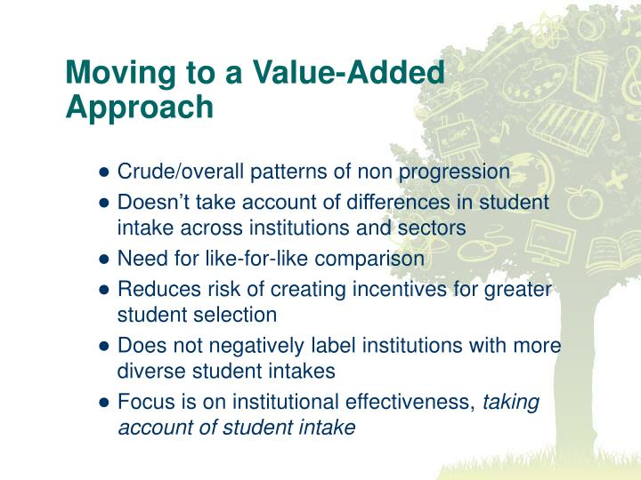 Moving to a Value-Added Approach