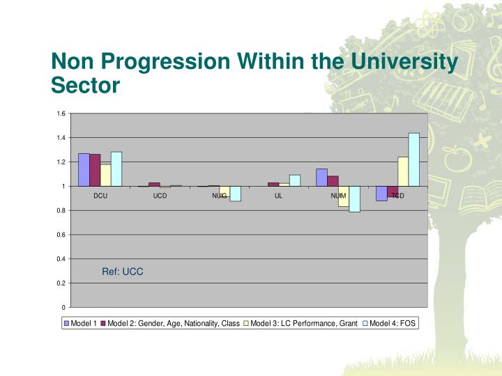 Non Progression Within the University Sector