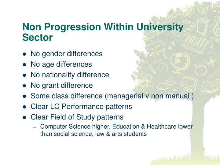 Non Progression Within University Sector
