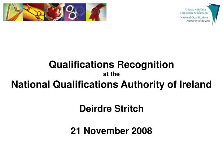 Qualifications Recognition