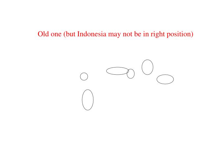 Old one (but Indonesia may not be in right position)