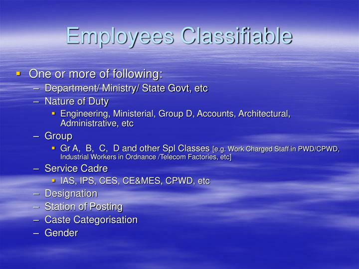 Employees Classifiable