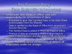 for success story data reliability is important1