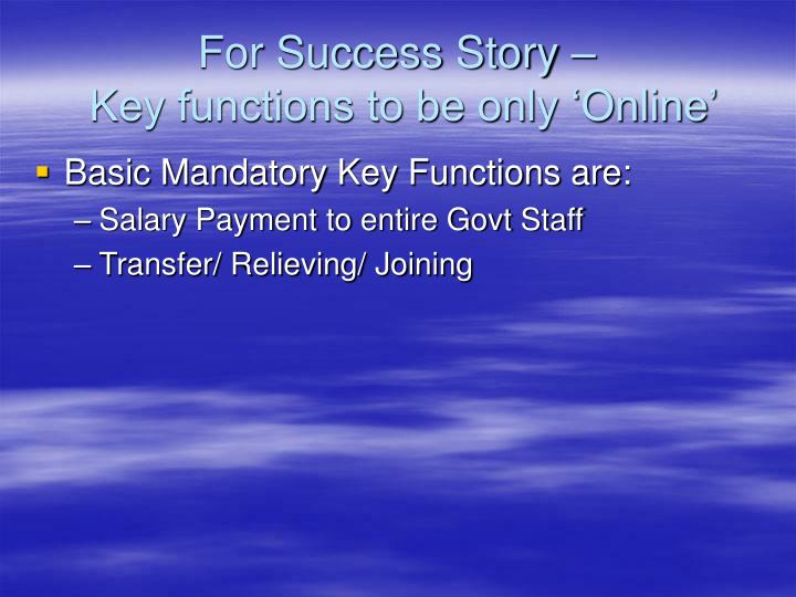 For Success Story –