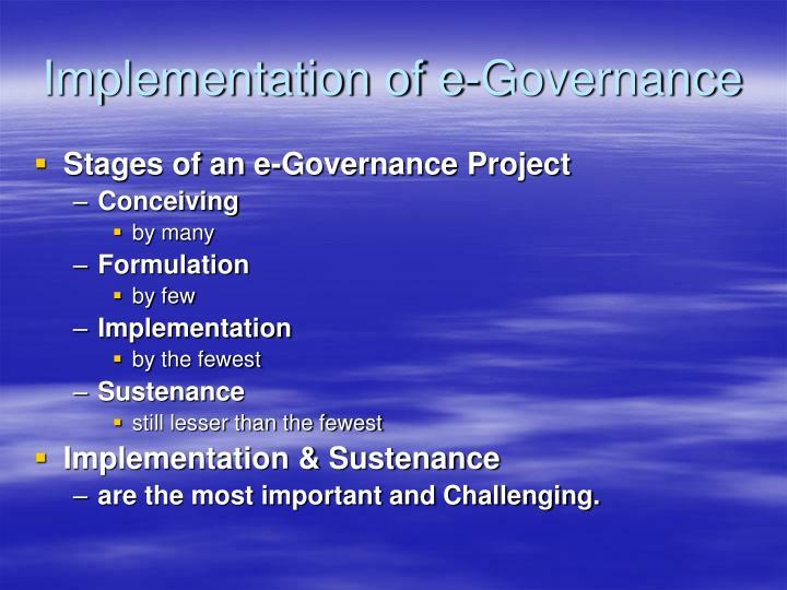 Implementation of e-Governance