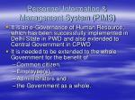 personnel information management system pims