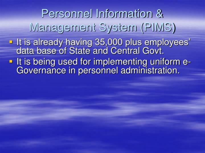 Personnel Information & Management System (PIMS)