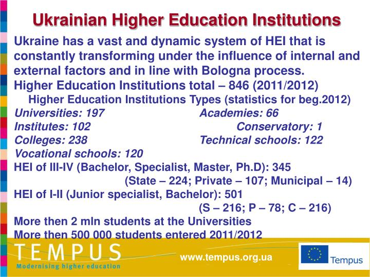 Ukrainian Higher Education Institutions
