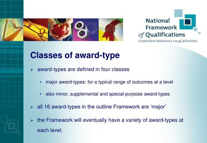 Classes of award-type