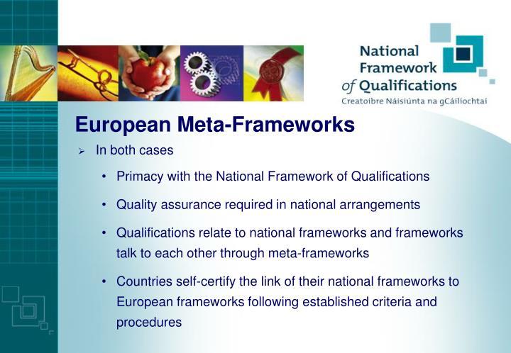 European Meta-Frameworks