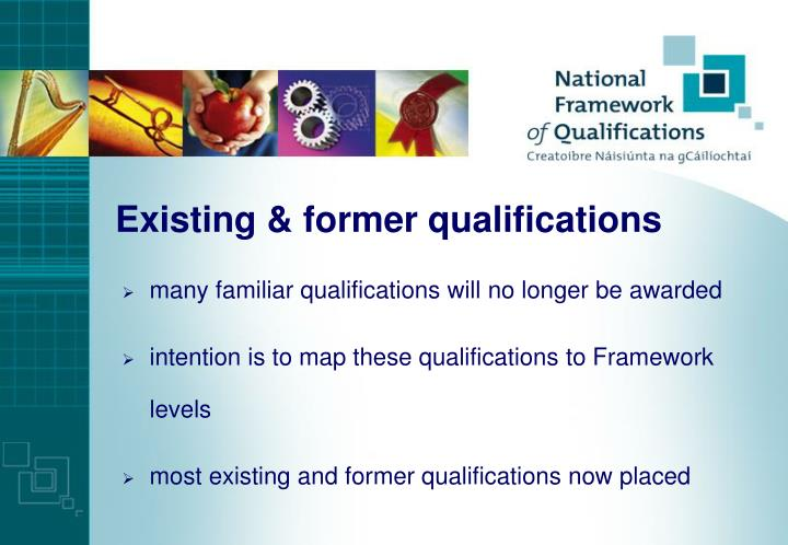 Existing & former qualifications