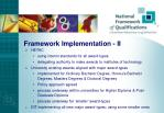 framework implementation ii