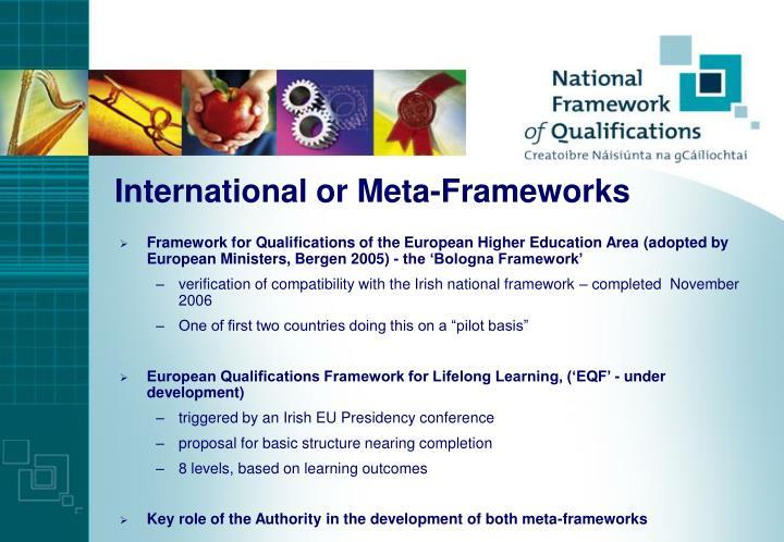 International or Meta-Frameworks