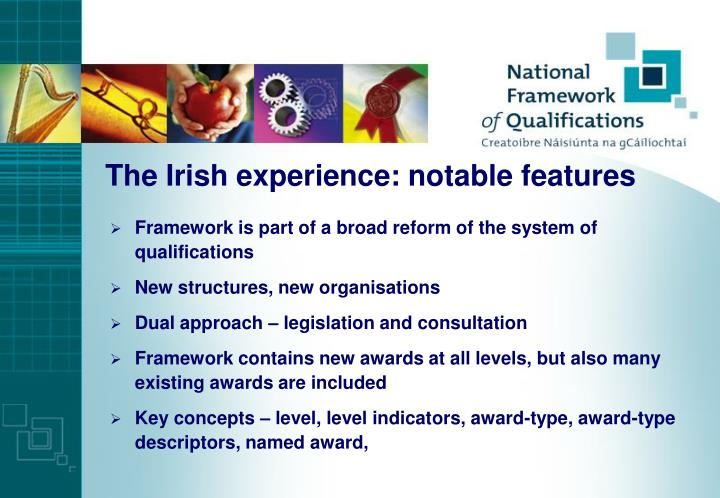 The Irish experience: notable features