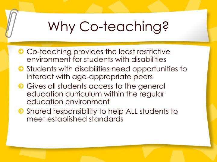 Why Co-teaching?