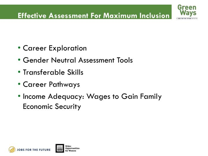 Effective Assessment For Maximum Inclusion