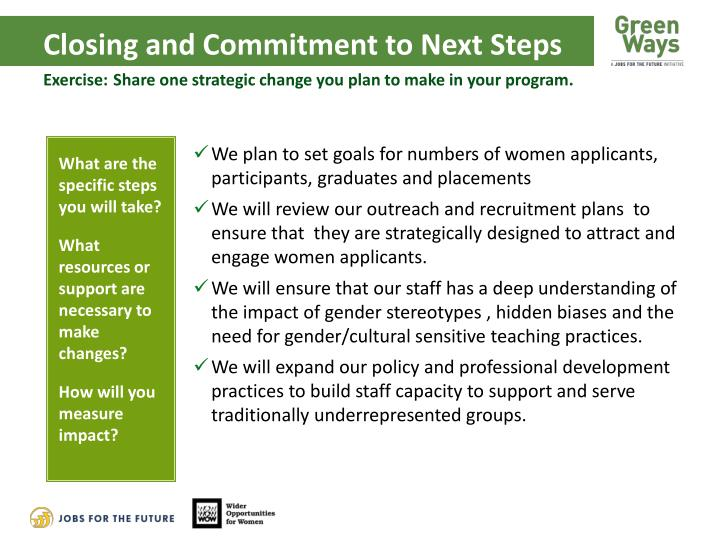 Closing and Commitment to Next Steps