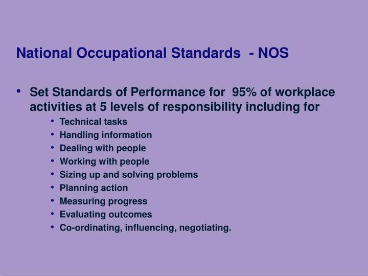 National Occupational Standards  - NOS