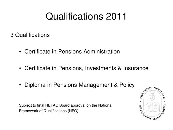 Qualifications 2011