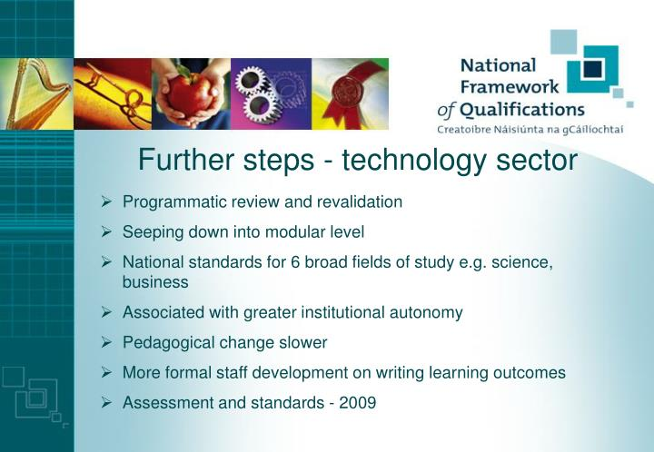 Further steps - technology sector