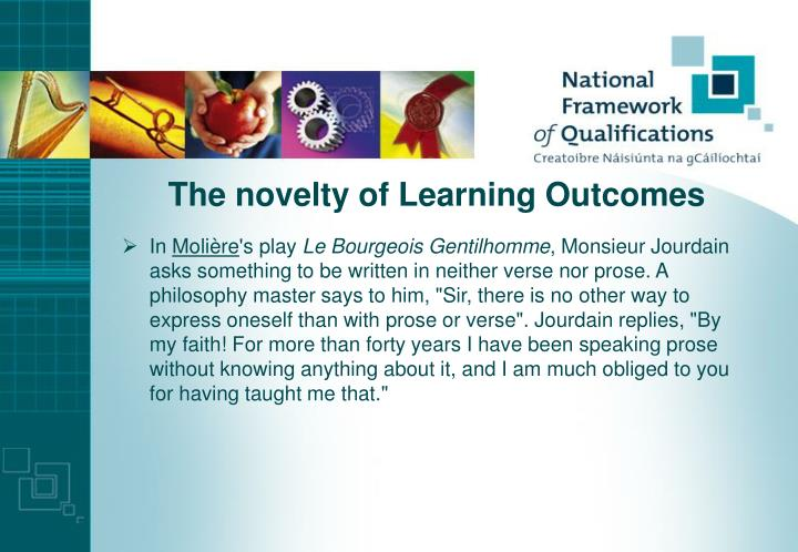 The novelty of Learning Outcomes