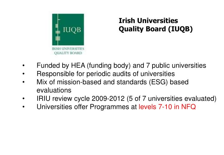 Irish Universities Quality Board (IUQB)