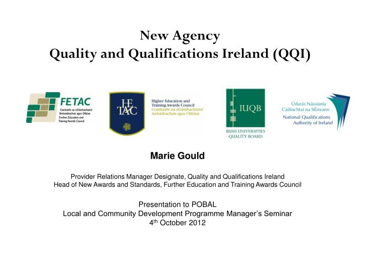 new agency quality and qualifications ireland qqi