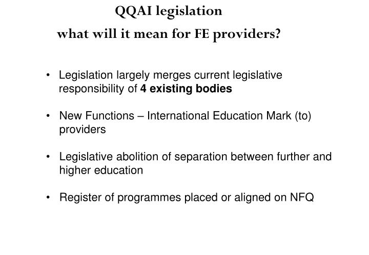 Legislation largely merges current legislative responsibility of