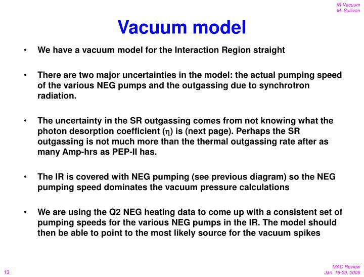 Vacuum model