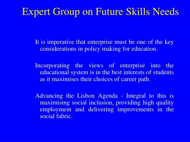 Expert Group on Future Skills Needs