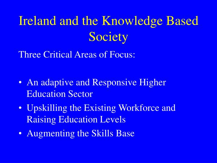 Ireland and the Knowledge Based Society