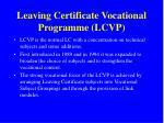 leaving certificate vocational programme lcvp