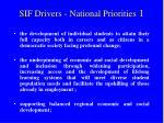 sif drivers national priorities 1
