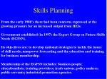 skills planning