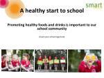 a healthy start to school