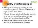healthy breakfast examples