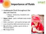 importance of fluids
