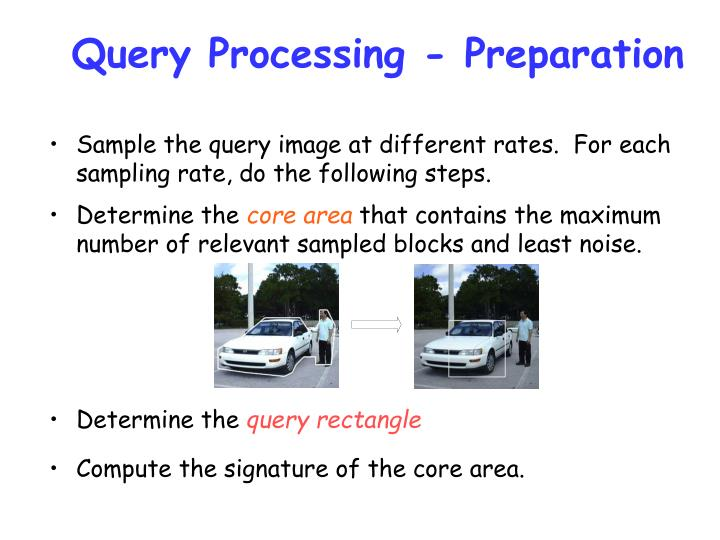 Query Processing - Preparation