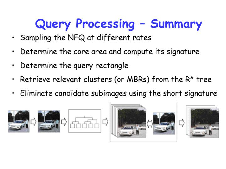 Query Processing – Summary